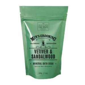 Men's Grooming Vetiver & Sandalwood Mineral Bath Soak