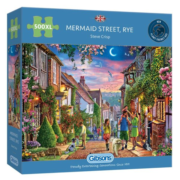Gibsons Mermaid Street Rye 500 Extra Large Piece Jigsaw Puzzle