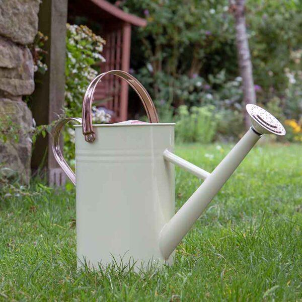 Metal Watering Can in Vintage Cream