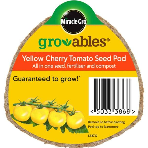 Miracle-Gro Groables Yellow Cherry Tomato Seed Pod