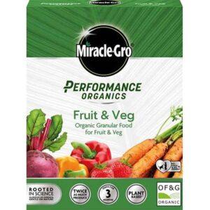 Miracle-Gro Performance Organics Fruit & Veg Granular Plant Food 1kg