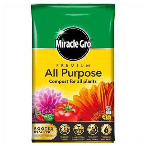 Miracle-Gro Premium All Purpose Compost for all plants (50 litres)