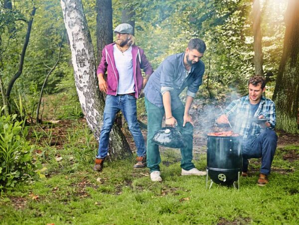 Enjoy spending time together whilst using the Weber Smokey Mountain Cooker Smoker