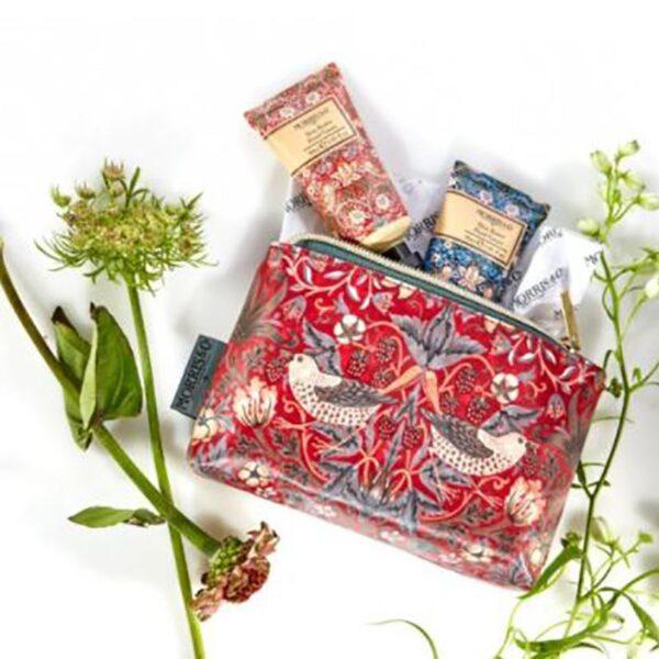 Morris & Co. Strawberry Thief Hand Care Bag (2 x 30ml) Lifestyle