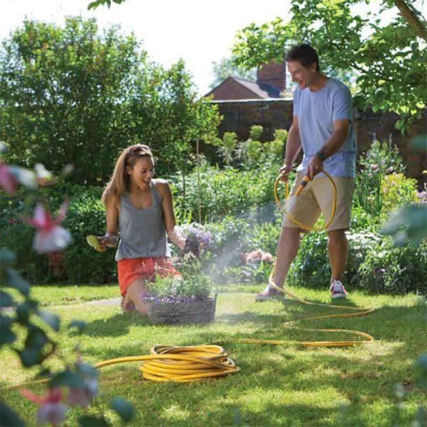 Multi purpose hose in use