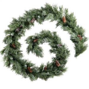 National Tree Company Lakeland Spruce Garland with cones