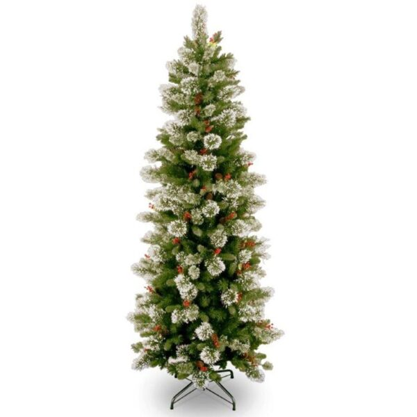 National Tree Wintry Pine Slim Artificial Christmas Tree