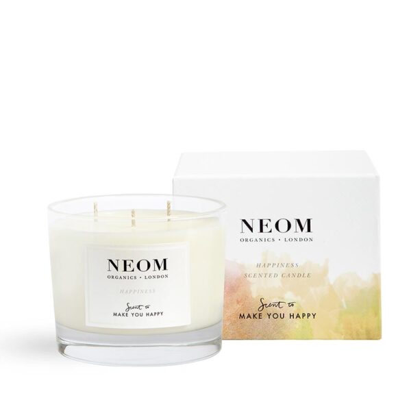 Neom Happiness Scented Candle -Scent to Make You Happy 3 wick