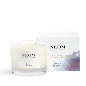 Neom Real Luxury Scented Candle -Scent to De-Stress 3 wick