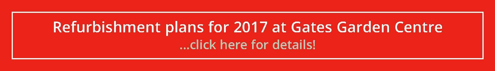 News Flash - Refurbishment Plans 2017