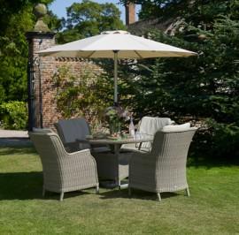 Oakridge 120cm round 4 chairs