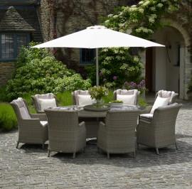 Oakridge 220cm oval 8 chairs