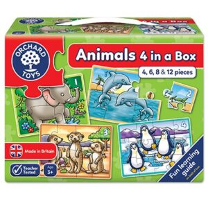 Orchard Toys - 4 in a Box Animal Puzzles