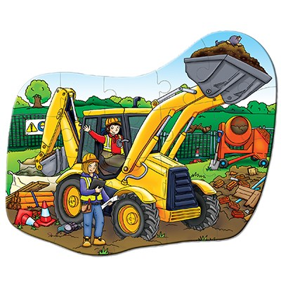 Orchard Toys - Big Digger Jigsaw Puzzle Completed