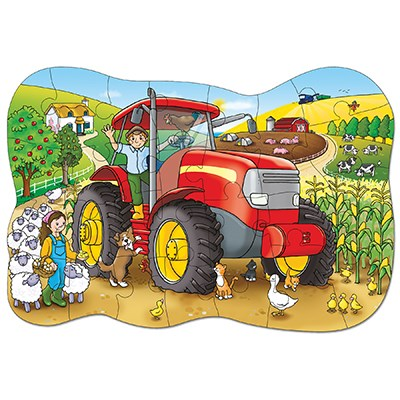 Orchard Toys - Big Tractor Jigsaw Puzzle Completed