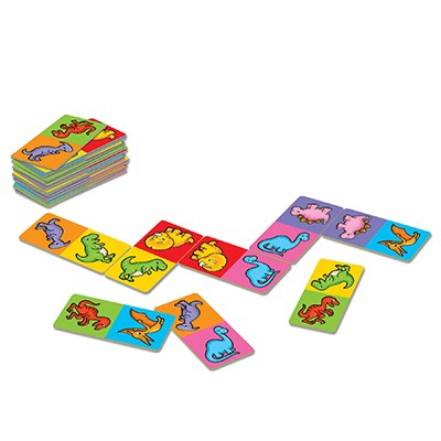 Orchard Toys - Dinosaur Dominoes Mini Game Contents