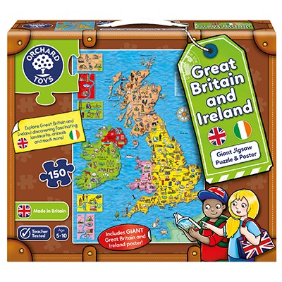 Orchard Toys - Great Britain and Ireland Jigsaw & Poster