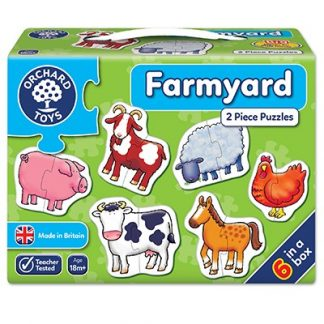 Orchard Toys - Six 2-piece Farmyard Jigsaw Puzzles