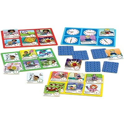 Orchard Toys - Tell the Time Game Contents