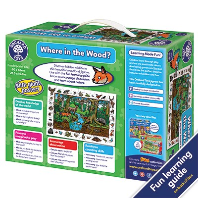 Orchard Toys - Where in the Wood Jigsaw Puzzle Back