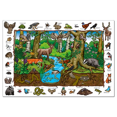 Orchard Toys - Where in the Wood Jigsaw Puzzle Completed