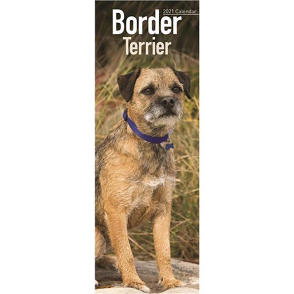 Otter House Border Terrier Slim Calendar 2021