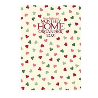 Otter House-Emma Bridgewater Pink & Green A3 Family Planner 2021