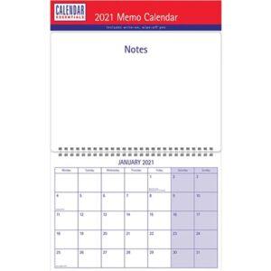 Otter House-Essential Memo Calendar 2021 A3