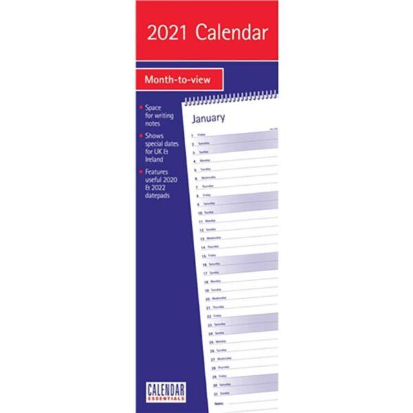 Otter House -Essential Slim Calendar 2021
