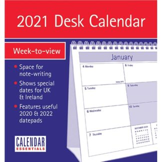 Otter House-Essential WTV Easel Desk Calendar 2021