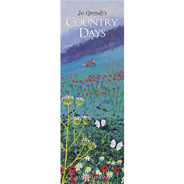 Otter House-Jo Grundy, Country Days Slim Calendar 2021
