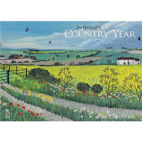 Otter House Jo Grundy Country Year-A4 Calendar 2021