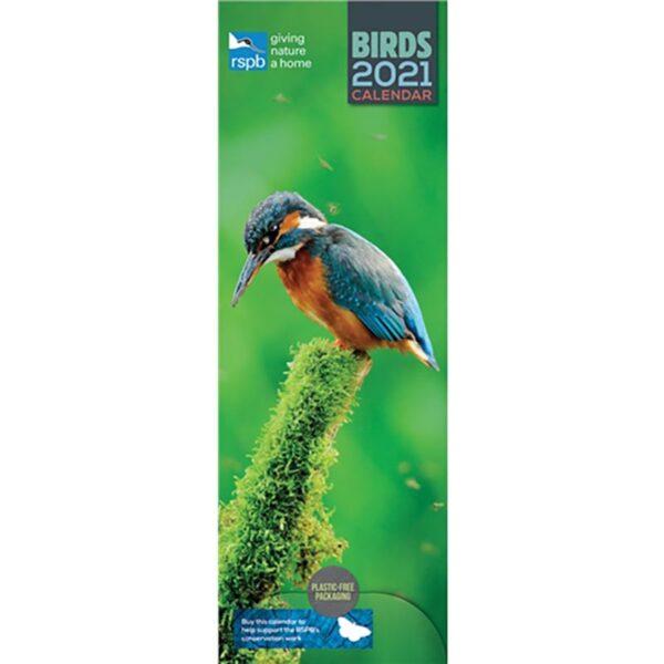 Otter House-RSPB Birds Slim Calendar 2021