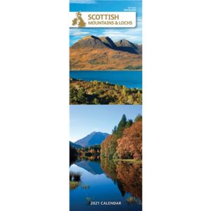 Otter House-Scottish Mountains & Lochs Slim Calendar 2021
