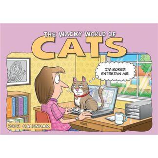 Otter House-Wacky World of Cats A4 Calendar 2021