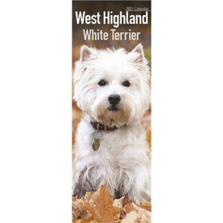 Otter House-West Highland White Terrier Slim Calendar 2021