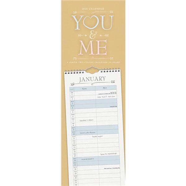 Otter House You & Me Planner Slim Calendar 2021