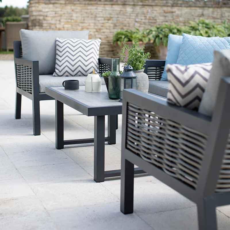 Outdoor garden scatter cushions complete the look