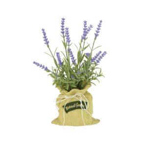 Floralsilk Lavender In Jute Bag (26cm)