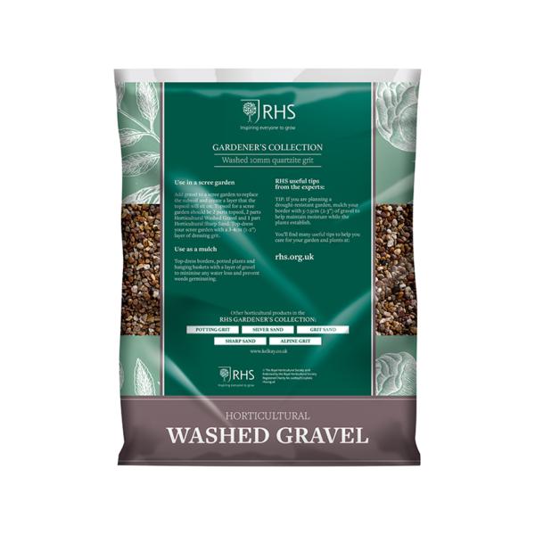 Back of Kelkay RHS Horticultural Washed Gravel Handy Pack