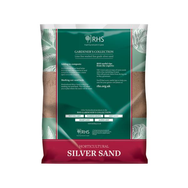 Back of Kelkay RHS Horticultural Silver Sand Handy Pack