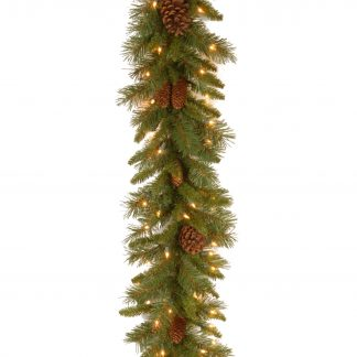 National Tree Company Pine Cone Garland with LED Lights