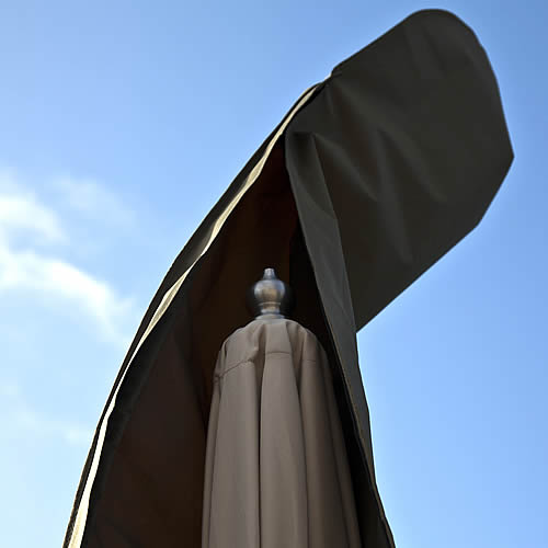 Bramblecrest Medium Parasol Cover in Khaki Close Up