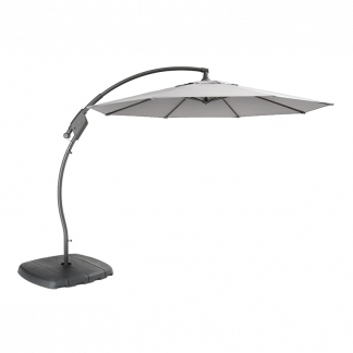 Kettler 3m Free Arm Parasol (Grey frame & Silver canopy)