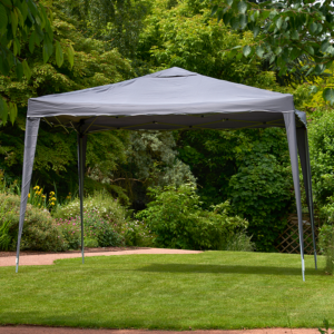 Glendale Easy Up Garden Gazebo in Grey 3 x 3m