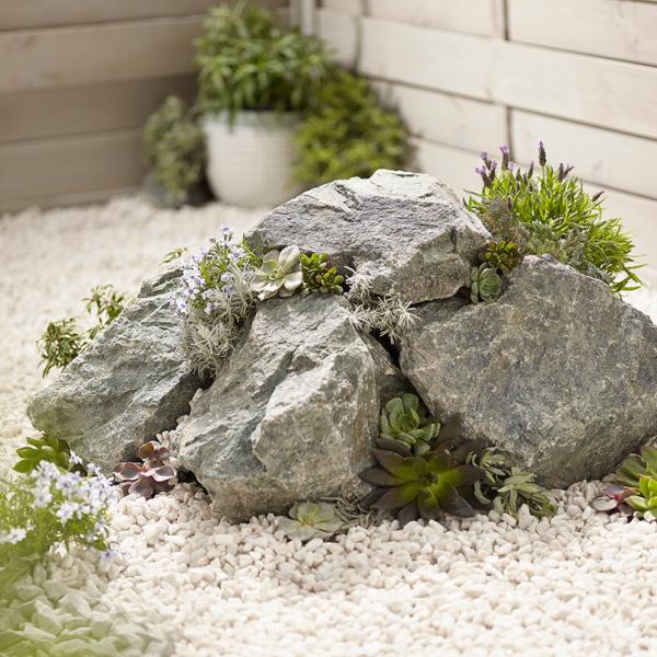 Forest Green Rockery Stones