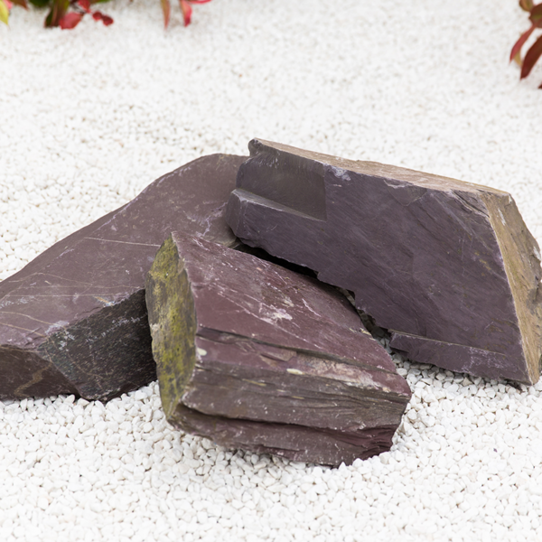 Sample of Kelkay Rockery Stone in Plum Slate