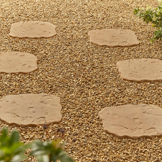 Kelkay Borderstone Random Stepping Stone - York Gold 400mm x 300mm