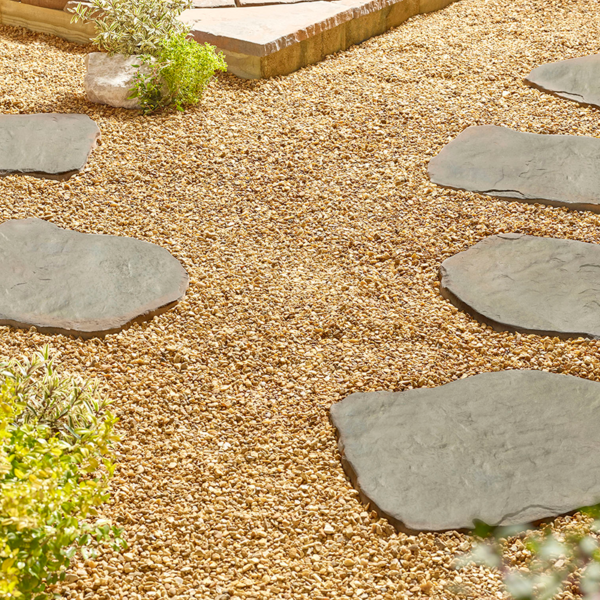 Kelkay Borderstone Random Stepping Stone - Rustic Sage 550 x 400mm