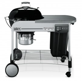 1481004A13 2013 Weber Performer Deluxe Charcoal Grill 22.5 Inch Black EU Product Straight On